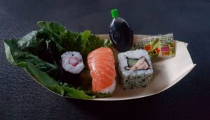 Sushi bootje als voorafje